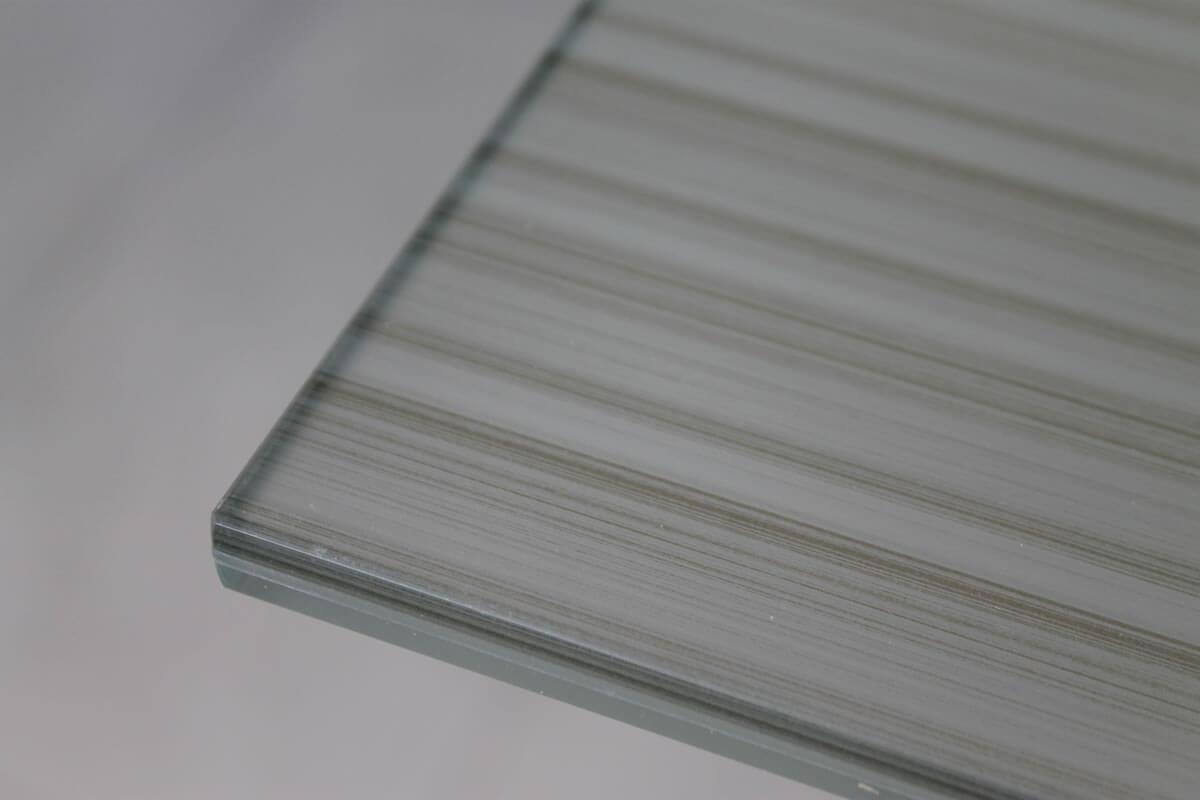 vetro extra chiaro PVB , satinato, filo lucido, bisellatura, decorazione, verniciatura