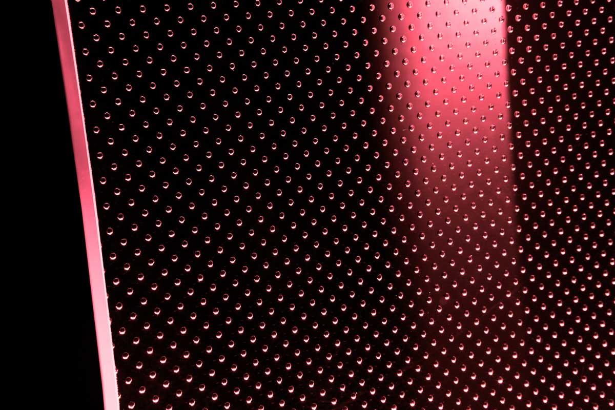 Vetro extra chiaro con luce LED rosso