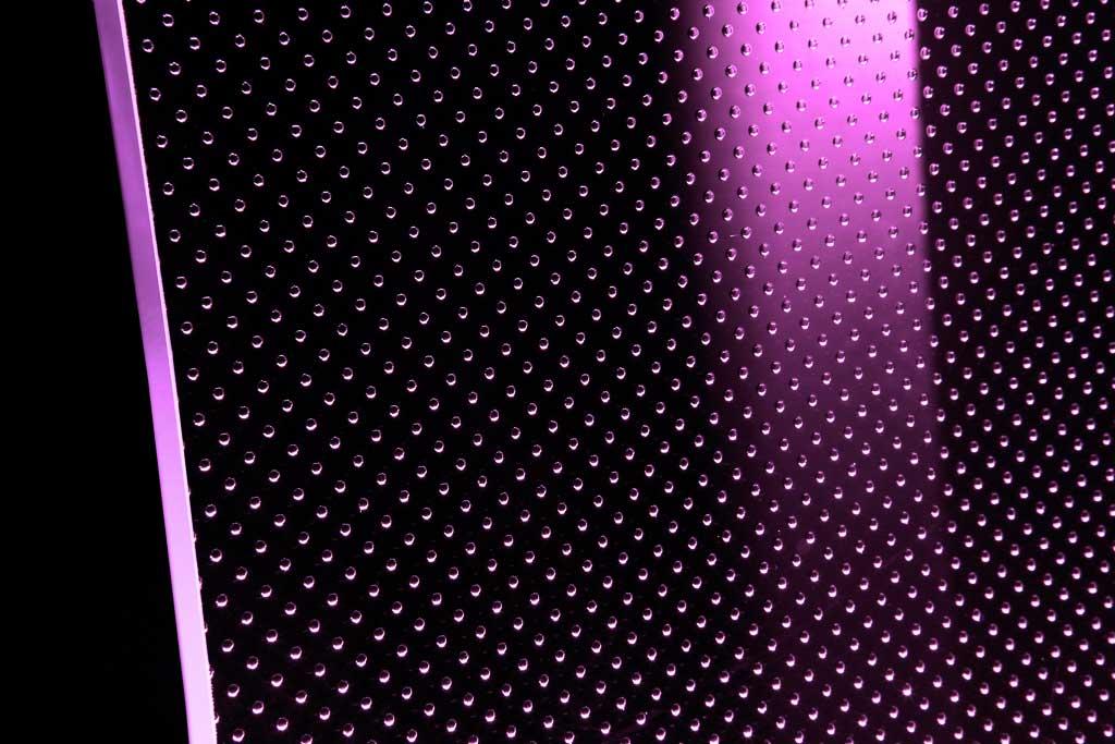 Vetro extra chiaro con luce LED viola