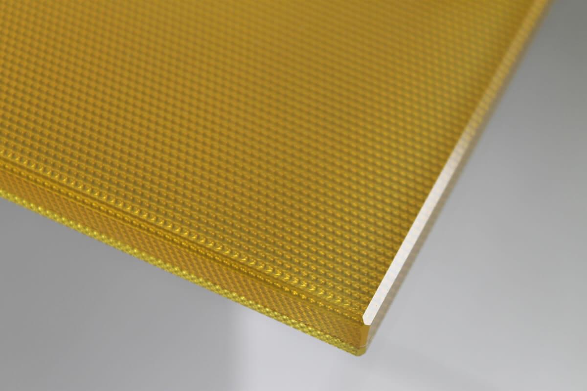 vetro extra chiaro stampa grana di riso verniciatura oro decorazione oro