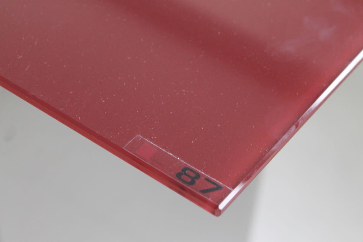 vetro extrachiaro filo lucido bisellatura